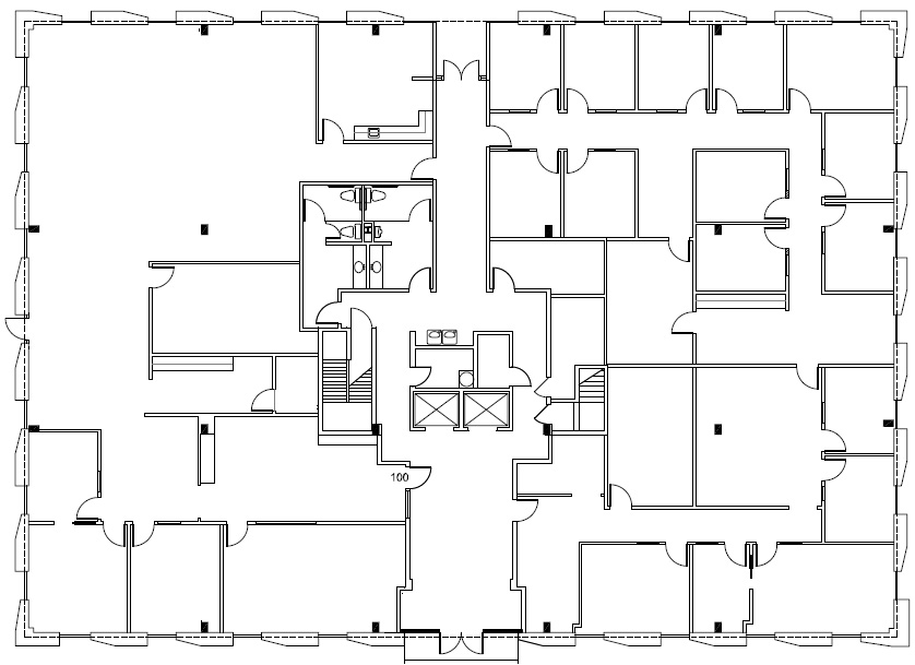 7701 North Lamar 1st floor floorplan