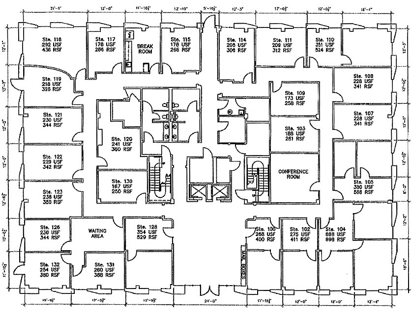 7703 North Lamar 1st floor floorplan