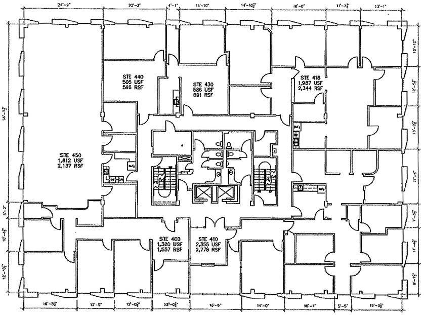 7703 North Lamar 4th floor floorplan